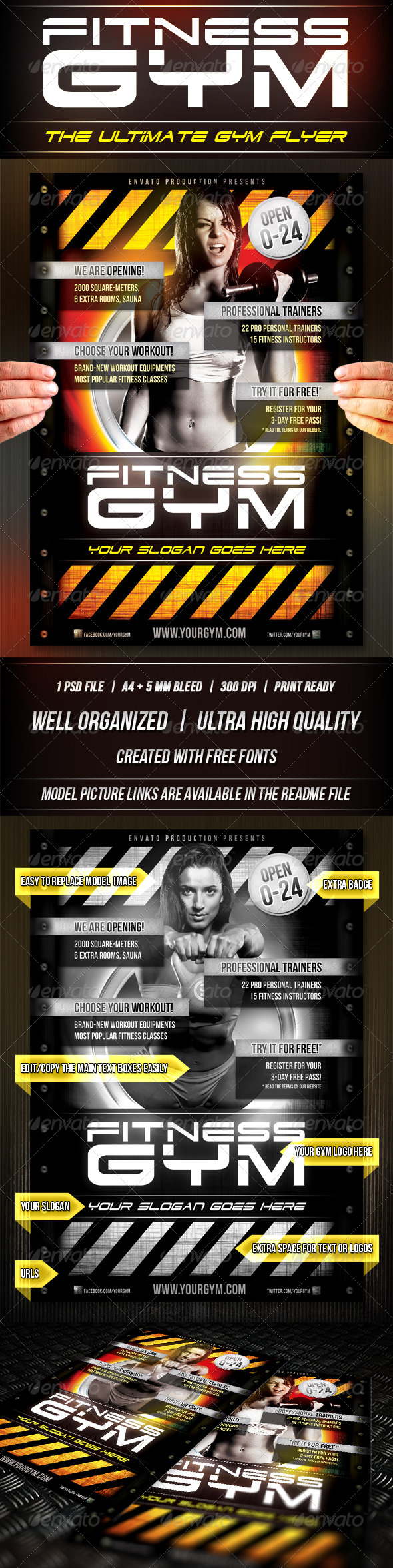 Fitness Gym Flyer Template - Sports Events