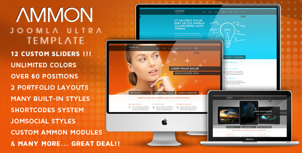 Ammon - Template for Joomla - AMMON JOOMLA TEMPLATE