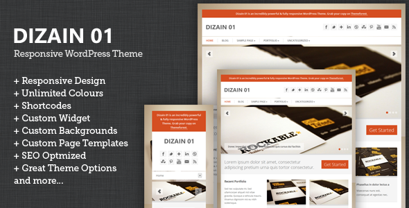 ThemeForest Dizain 01 Responsive Child Theme for Genesis 2826262