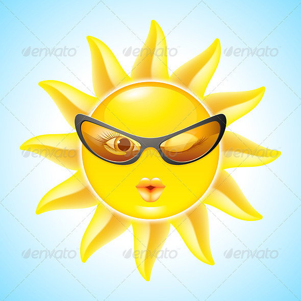 GraphicRiver Cartoon Sun Characters 2826445
