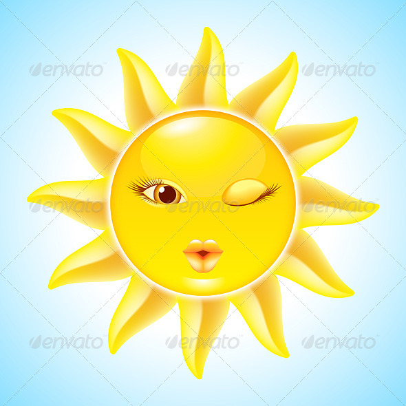 GraphicRiver Cartoon Sun Characters 2826447
