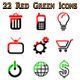 Red Green Icons - GraphicRiver Item for Sale