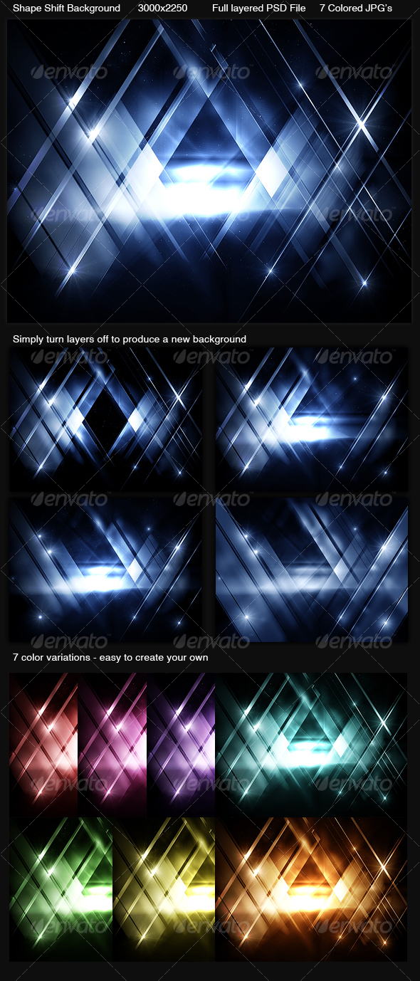 GraphicRiver Shape Shift Background 101762