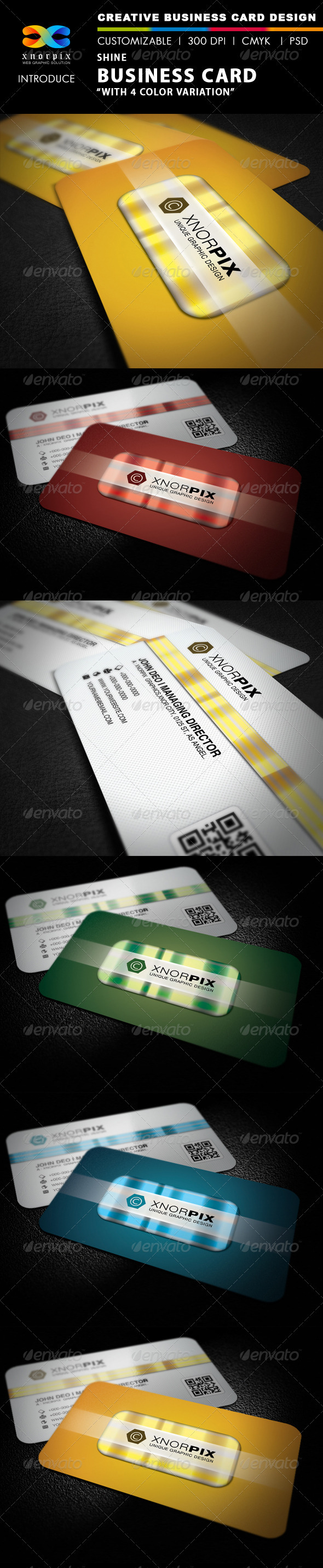 Shine Business Card - Corporate Business Cards