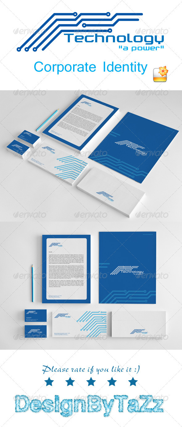 Technology Corporate Identity Package - Stationery Print Templates