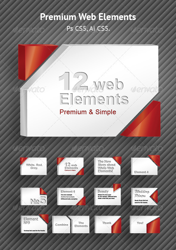 Premium Web Elements Set - Miscellaneous Social Media