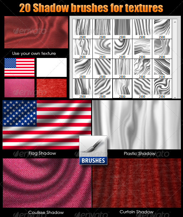 GraphicRiver Shadow Brushes for Textures 2828334