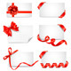 Set of card notes with red gift bows with ribbons - GraphicRiver Item for Sale