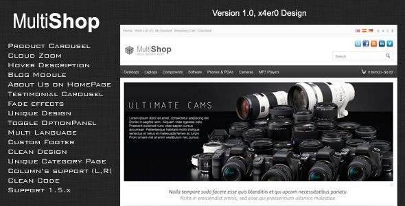 MultShop Premium OpenCart Theme