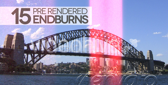 VideoHive 15 Pre-Rendered Film Burns & Light Leaks 2829338