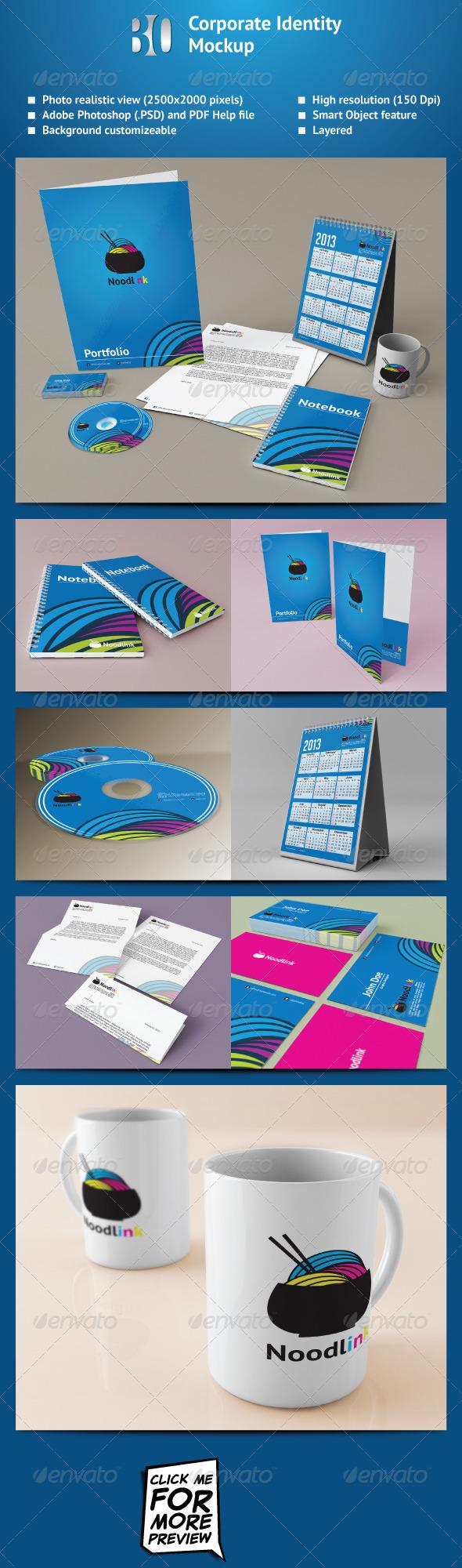 GraphicRiver Corporate Identity Mockup 2830488