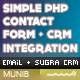Contact Form to Email and CRM  - PHP