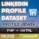 LinkedIn Connect + Profile Dataset+Profile Viewer