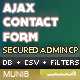 Ajax Contact Form with Admin CSV Exporter & Filters