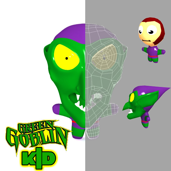 3DOcean Green Goblin Kid Model 2830876