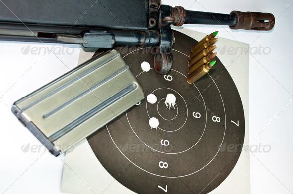 Rifle and Bullets - Stock Photo - Images