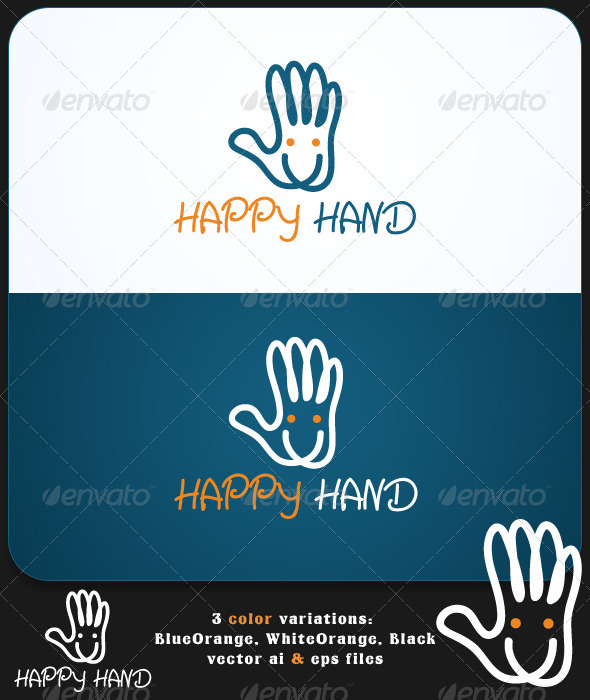 GraphicRiver Happy Hand Logo Template 2831159
