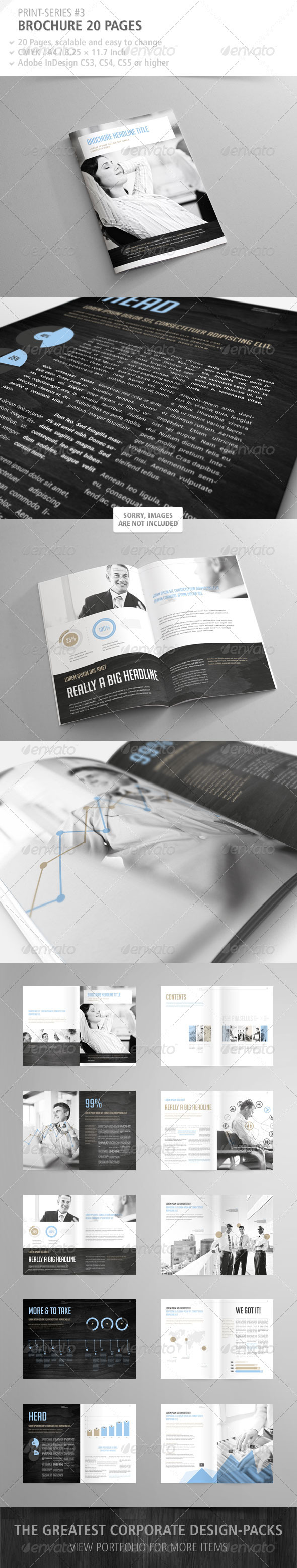 GraphicRiver Brochure 20 Pages Print-Series #3 2831180
