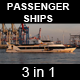 Passenger Ships Passing By (3in1) - VideoHive Item for Sale