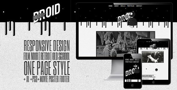 SketchDroid - Responsive Film Noir Portfolio