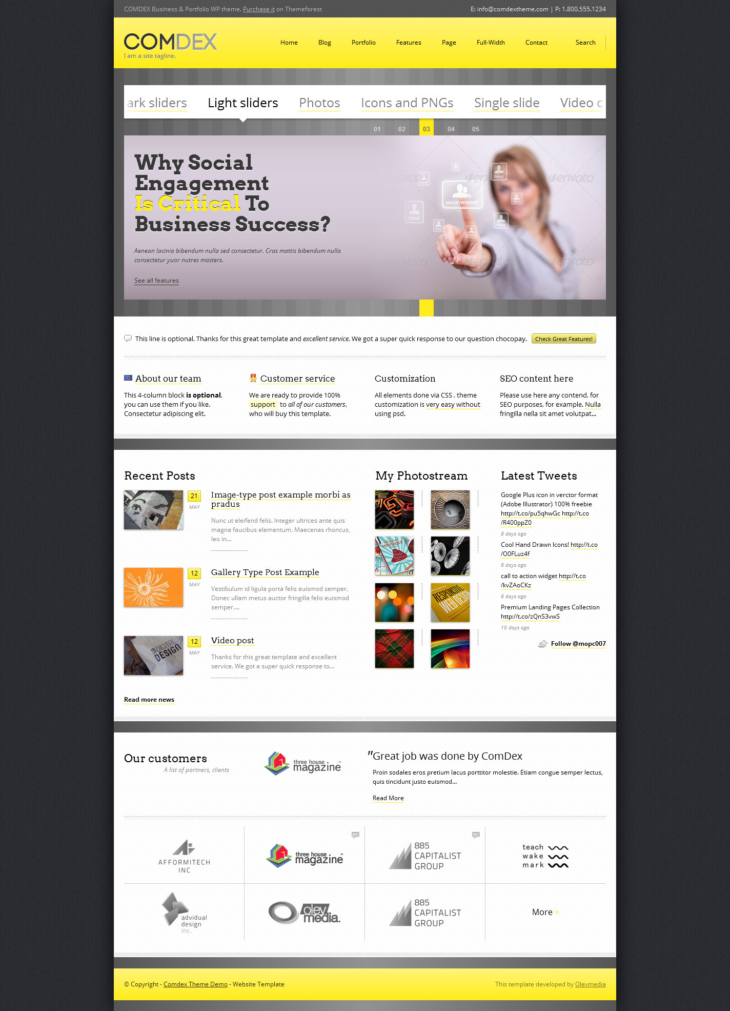 Comdex — Responsive WordPress Theme