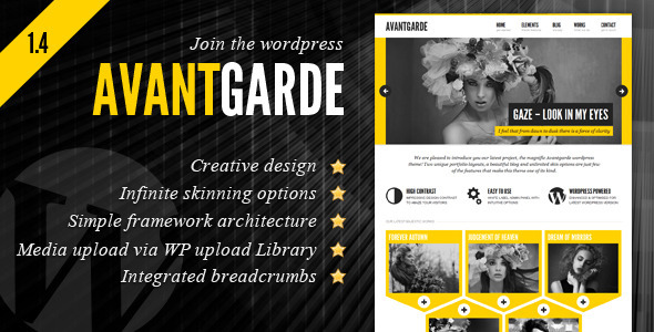 ThemeForest Avantgarde Creative Theme 1580574