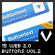 15 Web 2.0 Buttons Vol.2 - GraphicRiver Item for Sale