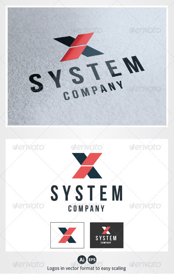 X System Letter Logo - Letters Logo Templates