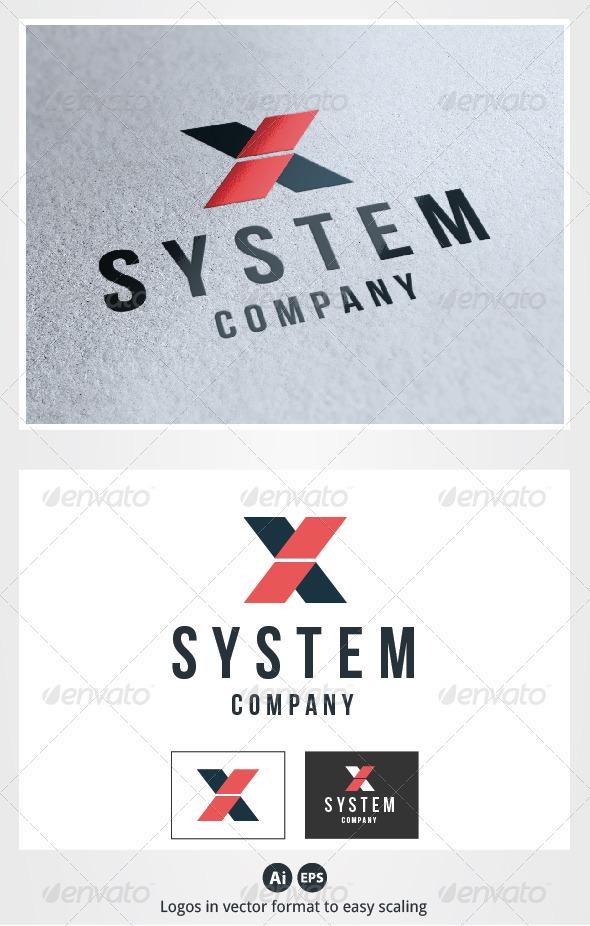 X System Letter Logo - Letters Logo Templates