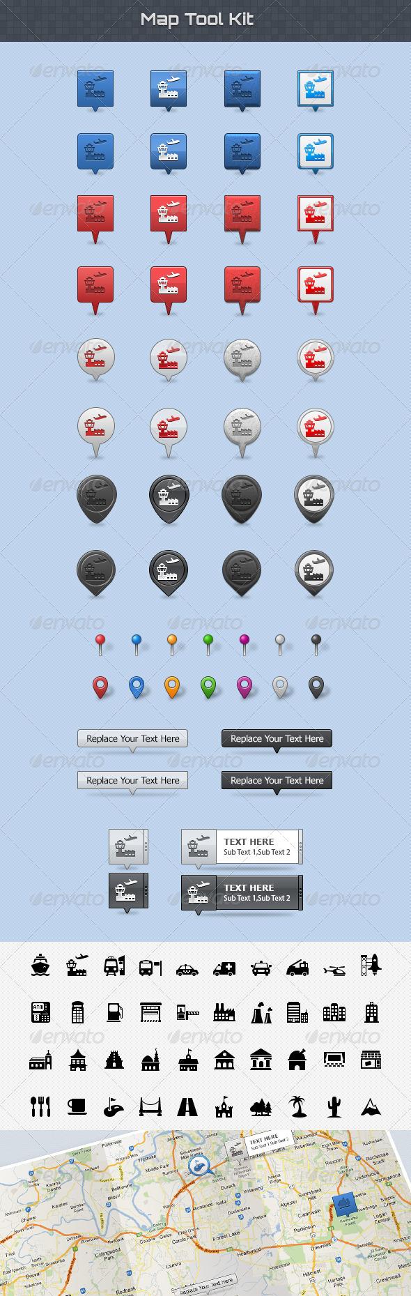 Map Tool Kit - Miscellaneous Web Elements