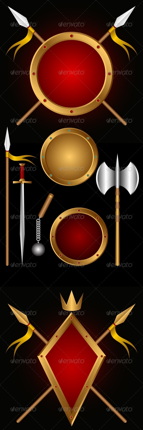 GraphicRiver Ancient weapons 2833169