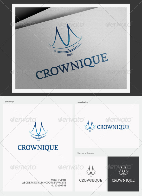 GraphicRiver Crownique Logo 2833302