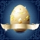 Elegant Banner With White Chocolate Egg on Blue - GraphicRiver Item for Sale