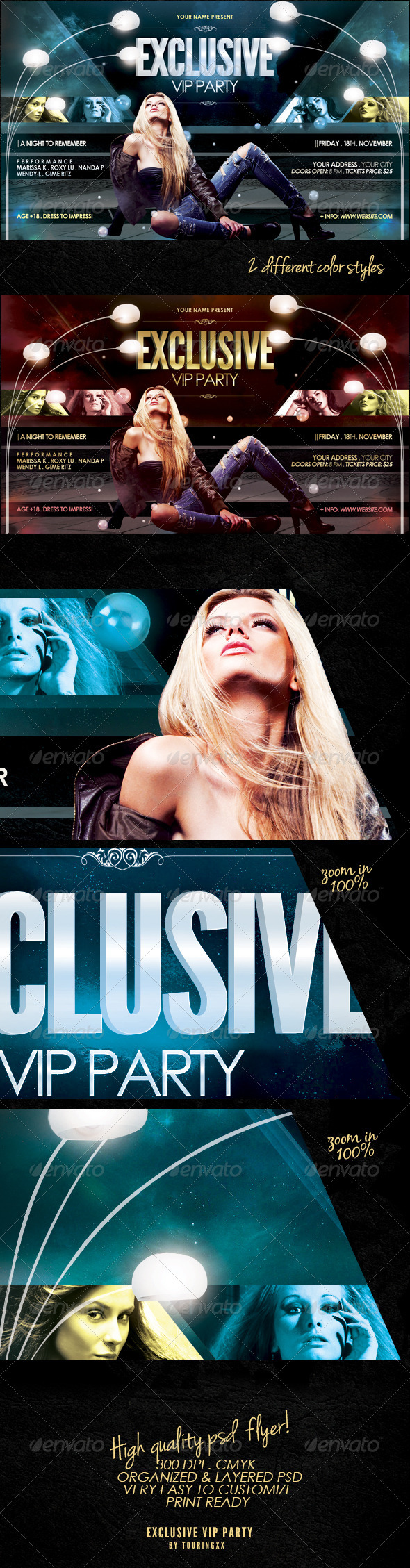 Exclusive Vip Party Flyer Template - Events Flyers