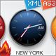 Custom Color Time Zone XML Clocks - ActiveDen Item for Sale