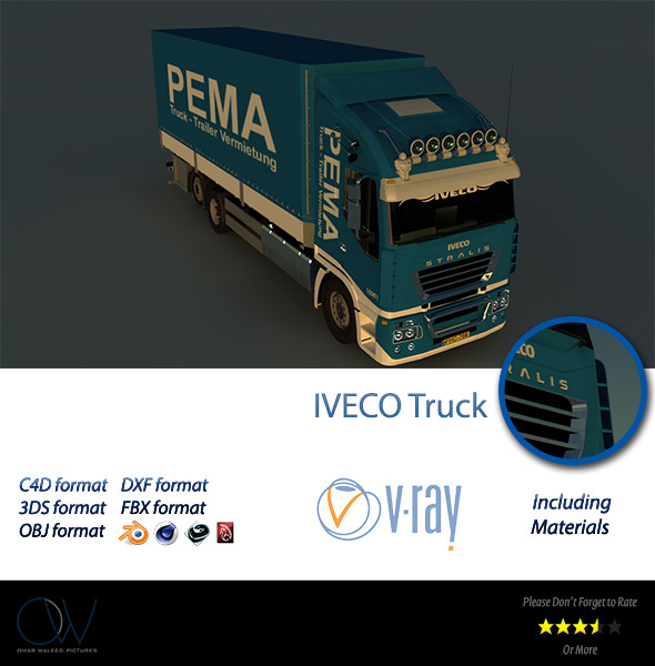 3DOcean Iveco Truck 3D Model 2834338