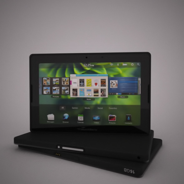 3DOcean Realistic Blackberry Playbook Model for Vray 2813273