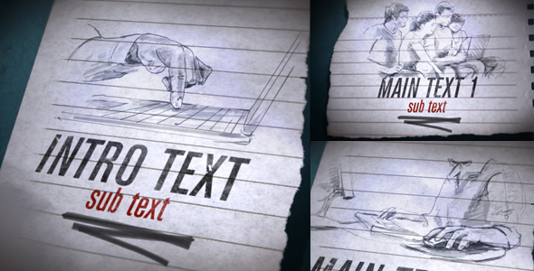 VideoHive Quick Drawings Website Promo 2834614