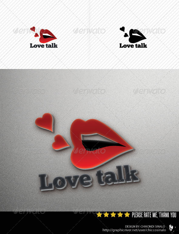 Love Talk Logo Template - Humans Logo Templates
