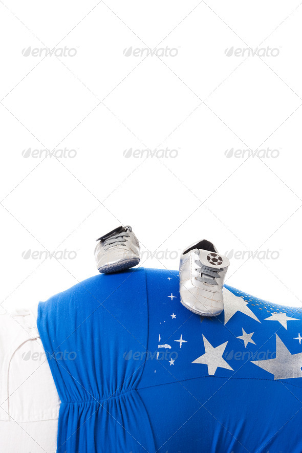 Shoes on my belly - Stock Photo - Images