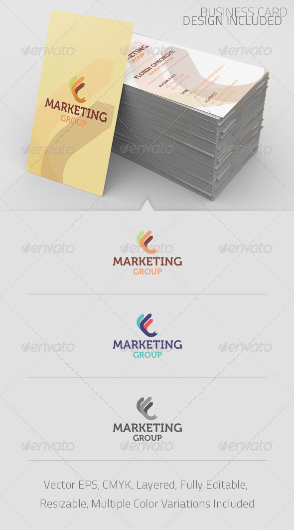 Marketing Group Logo Template - Abstract Logo Templates