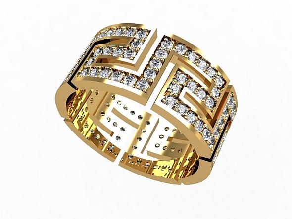 Greek Eternity Ring - 3DOcean Item for Sale