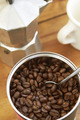 Overhead View Of Coffee Beans, Cafetiere And Mug - PhotoDune Item for Sale