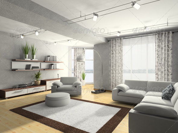 Home interior 3D rendering - Stock Photo - Images