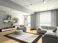 Home interior 3D rendering - PhotoDune Item for Sale