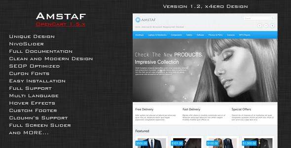 Amstaf - Premium OpenCart Theme