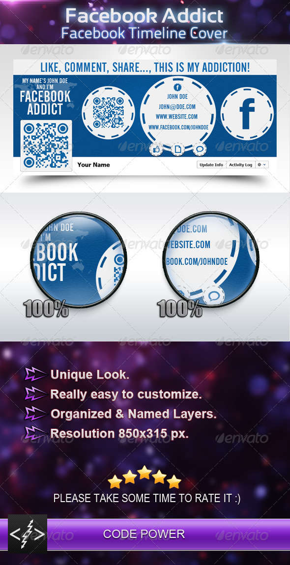 GraphicRiver Facebook Addict Facebook Timeline Cover 2836258