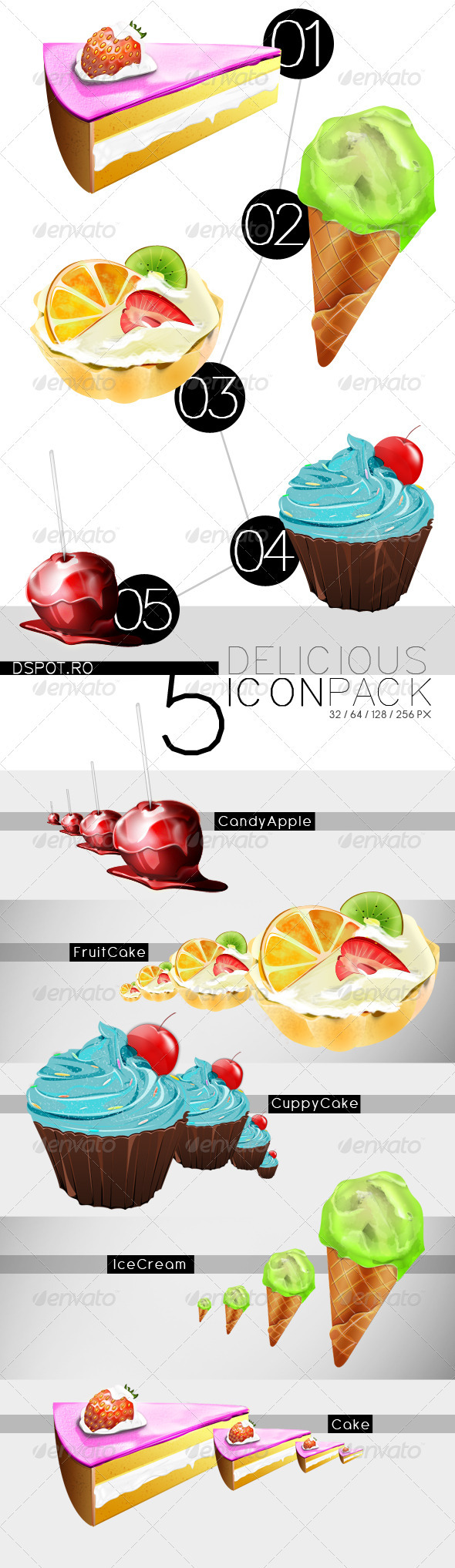 GraphicRiver Delicious Icon Pack 2836588 Created: