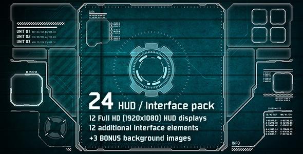 24 hi tech hud interface pack