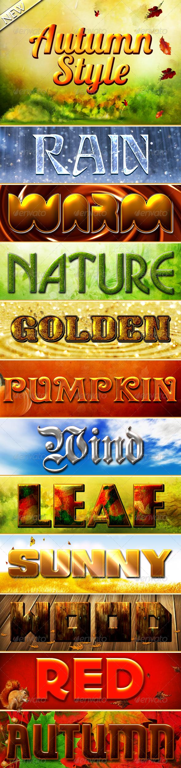 Autumn Styles - Text Effects Styles